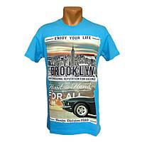 Фирменные футболки Daniel and Jones - №2291, Цвет голубой