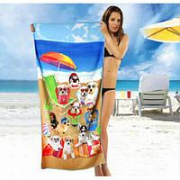 Пляжное полотенце из микрофибры - №2314, Цвет разноцветный