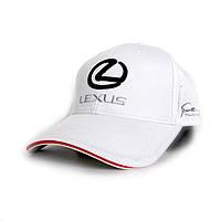 Бейсболка с логотипом Lexus- №2311, Цвет белый