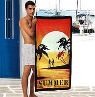 Стильное мужское полотенце Summer - №2316, Цвет разноцветный