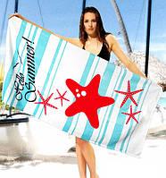 Стильное полотенце Hello Summer! - №2319, Цвет разноцветный