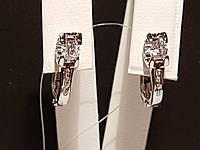 Срібні сережки фіанітами. Артикул 902-00493, фото 1
