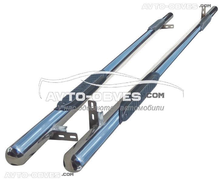 Труби бічні з накладками Mercedes Vito \ V class, кор (L1) / серед (L2) / екстра довга (L3) бази, Ø 60 мм
