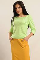 """Стильна блуза в стилі """"casual"""" вільного силуету в смужку 42-52 розміру, фото 1"""