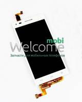 Дисплей (экран) + сенсор (тач скрин) Huawei Ascend G6 L11 L22 L33 white (оригинал)