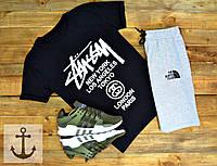 Мужская футболка Stussy + Шорты TNF 🔥 (Стасси+ТНФ)