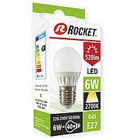 Светодиодная лампочка LED Rocket тёплый свет G45 6w цоколь Е27 LE4003847