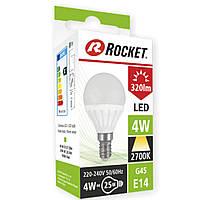 Светодиодная лампочка тёплый свет G45 (LED) 4W цоколь E14