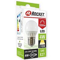 Лампочка LED круглая тёплый свет G45 4W цоколь Е27 LE4003843