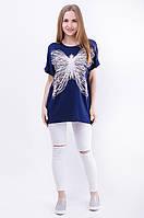 Женская футболка с принтом бабочка
