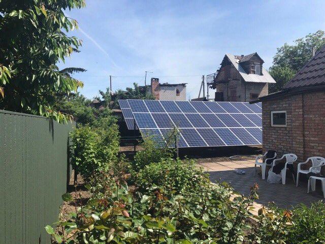 Кривой Рог сетевая солнечная электростанция под зеленый тариф 15 кВт (Ja Solar + Fronius)