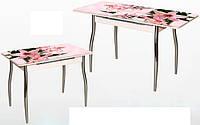 Кухонный стол-16А раздвижной с фотопечатью