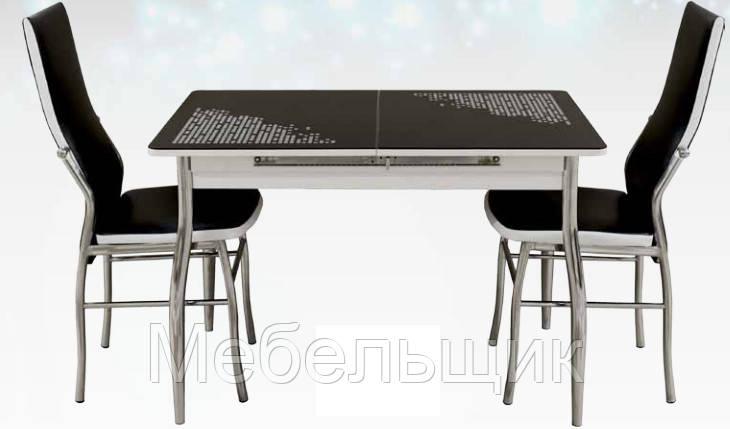 Кухонный стол-16Б раздвижной с фотопечатью