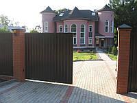 Откатные ворота ПРОФЛИСТ ширина 3000мм*высота 2000мм