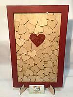 Рамка для пожеланий с сердечками (с гравировкой и покраской), фото 7