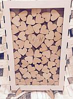 Рамка для пожеланий с сердечками (с гравировкой и покраской), фото 4
