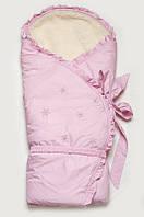 """Конверт-одеяло зимний на меху """"Сказка"""" розовый Модный Карапуз 07-00033-21"""