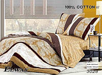 Постельное сатин полуторный ELWAY. Польша. Комплект постельного белья 160х220 см. 3028