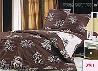 Постельное сатин полуторный ELWAY. Польша. Комплект постельного белья 160х220 см. 3701