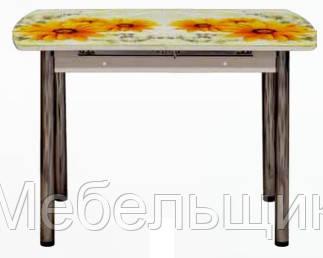 Кухонный стол-24Б раздвижной с фотопечатью