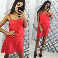 Женское стильное  шифоновое Цвета  :  Белый,  ментол,  красный,  персик,  черный.  платье ВИ033
