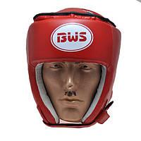 Шлем боксерский закрытый верх PVC BWS-450 Красный, S
