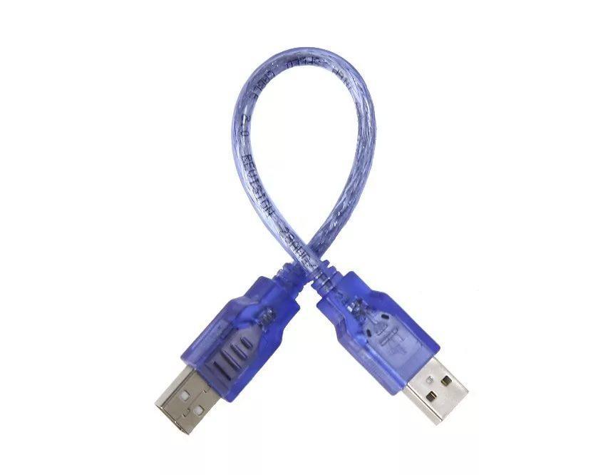 Кабель USB AM/AM (папа-папа) 0,3 м силикон