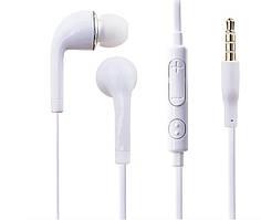 Навушники J5 Handfree вакуумні з мікрофоном(чорні і білі)
