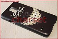Бампер чехол на Samsung Galaxy S5 i9600 G900 пластик bp#37
