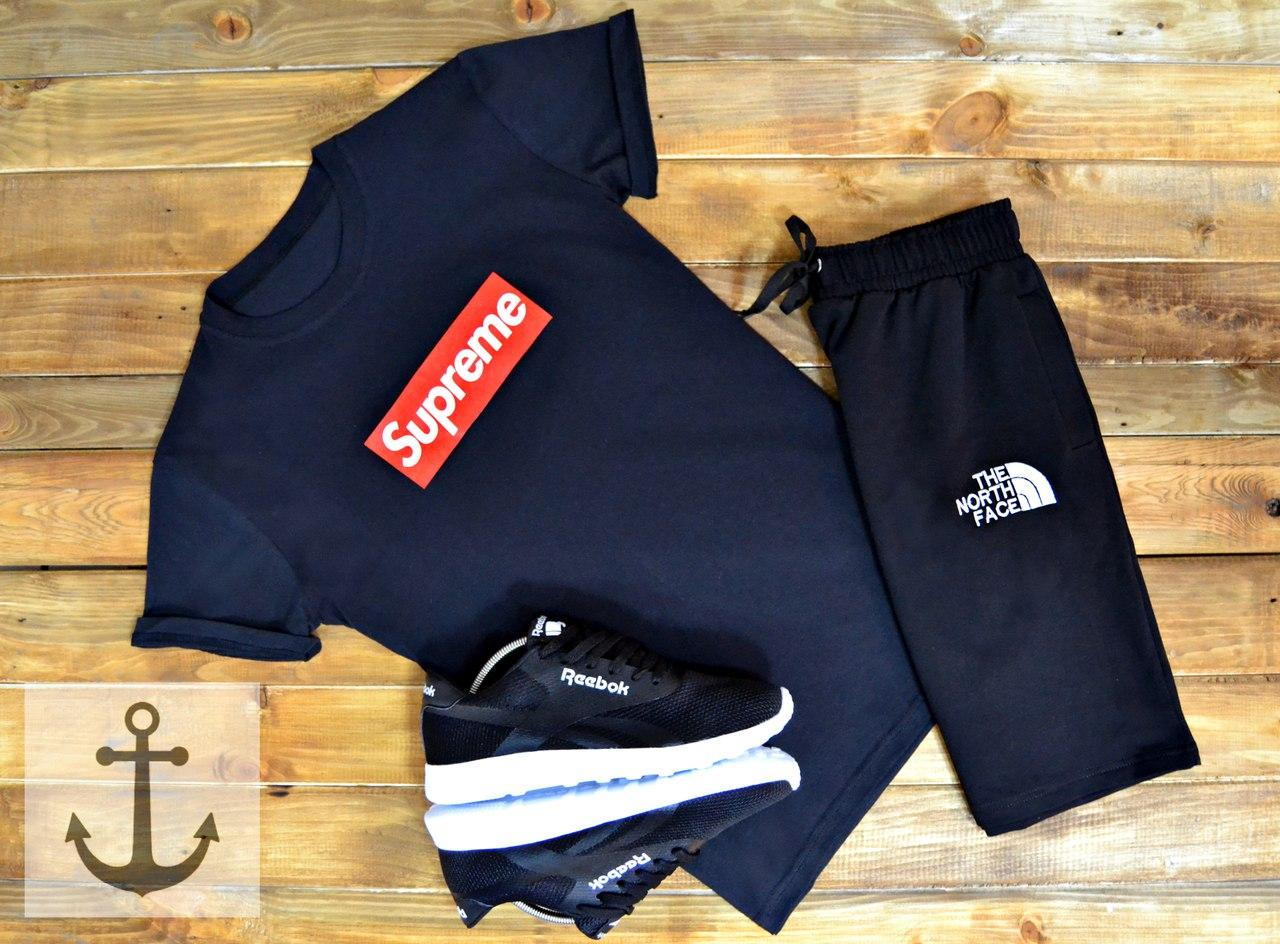 Спортивный костюм Supreme+TNF 🔥 (Суприм+ТНФ) Black - Магазин одежды и обуви JSJ в Киеве