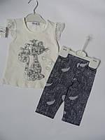 Комплект для девочек, туника лосины, 1-5 лет