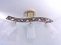 Люстра потолочная на 3 лампочки YR-6033/3-gd