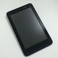 Дисплей для Lenovo A3500 IdeaTab + touchscreen. черный. с передней панелью синего цвета