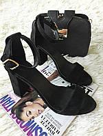 Супер-модные босоножки на устойчивом каблуке, модель 335