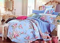 Постельное сатин полуторный ELWAY. Польша. Комплект постельного белья 160х220 см. 4192