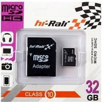 Карта памяти Micro SD 32Gb Class 10 (+ад) HI-Rali