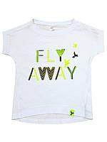 "Футболка SMIL (92, 98, 104, 110, 116, 122, 128, 134 см) -  92 см ""Fly away"" арт. 110417 Белая"