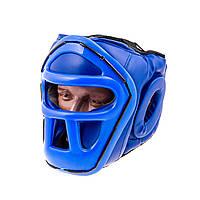 Шлем для единоборств с пластиковой маской PVC EVERLAST L, Синий