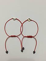 Парные браслеты красная нить с амулетом Инь-Янь