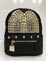 Рюкзак 2188 городской молодежный с крупными стразами в черном цвете