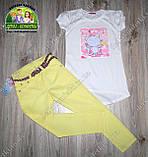 Брюки желтые стрейчевые для девочки 5 лет, фото 3