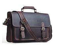 Сумка-портфель TIDING BAG T1099 коричневая