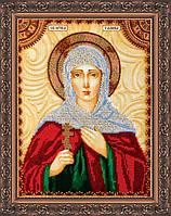 Набор для вышивки бисером именной иконы «Святая Галина»
