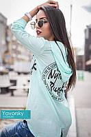 """Рубашка женская летняя свободная хлопковая """"диско"""" с длинным рукавом в разных цветах"""