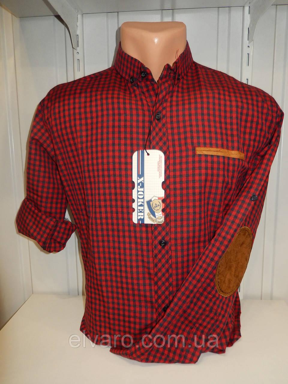 8528f6faff6 Красивая хлопковая мужская рубашка X-Joker клетка