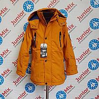 Подростковая демисезонная  куртка на флисе для мальчика GRACE оптом