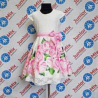 Гипюровое  нарядное детское платье на девочку  DEVA, фото 1
