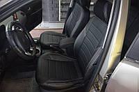 Авточехлы полностью экокожа с двойной строчкой для Audi A-3 (8P) 3D Coupe 2003-13г.