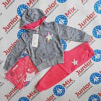 Детский трикотажный спортивный  костюм для девочки тройка GRACE, фото 1