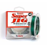 Шнур плетеный FANATIK Super Jig PE X8 100 m (#0,6) 0.12 mm Green